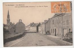 La Feuillée / Finistère, Rue De L'Eglise + Son Cachet Perlée, 1924 - Otros Municipios
