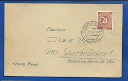 Enveloppe ZONE ASS  Affranchi à 24 Post  Oblitération: LIMBURG 7/2/1947 - Zona AAS
