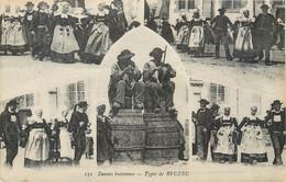 CPA 29 Finistère Danses Bretonnes Types De Beuzec -  Au Dos Don 10 Francs Pour Monuments Aux Morts - Beuzec-Cap-Sizun
