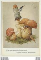 AK  Pilze Vermenschlicht Chor Künstlerkarte Humor - Champignons