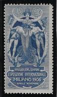 Italie Vignette Milano 1906 - Neuf * Avec Charnière - TB - Sonstige