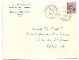 ISERE  - Dépt N° 38 = MONTBONNOT ST MARTIN 1960 =  CACHET MANUEL A7 - Bolli Manuali