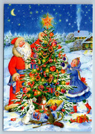 DED MOROZ N SNOW MAIDEN Decorate Christmas Tree Toys By Uvarova New Postcard - Non Classificati