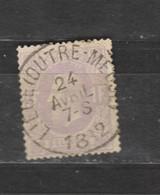 COB 36 Oblitération Centrale LIEGE (Outre-Meuse) Superbe - 1869-1883 Leopold II