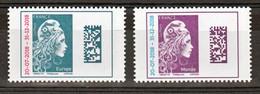 France 5270/5271 2018 Marianne L'engagée Europe Et Monde Surchargées  Neuf TB ** MNH Sin Charnela Prix De La Poste 2.5 - Unused Stamps