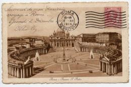 Roma - Cartolina Antica PIAZZA SAN PIETRO (Anno1915 - Ed. 18629 Brunner C.,) - OTTIMA D25C - San Pietro
