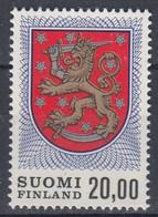 +M1198. Finland 1978. Coat Of Arms. Lion 20 M. Michel 823 I. MNH(**) - Nuevos