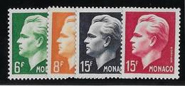 Monaco N° 365/368 - Neuf ** Sans Charnière - TB - Ungebraucht
