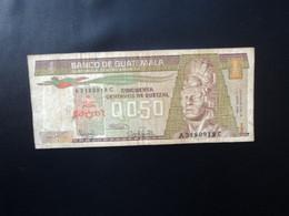 GUATEMALA : 1/2 QUETZAL   3.1.1986   P 65     TB+ * - Guatemala