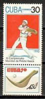 Cuba 1990 / Sport Basque Ball Congress MNH Congreso Pelota Vasca Deporte / Cu11731  C2-13 - Autres