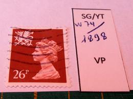 REGIONAL WALES SG W74 / YT 1898 USED - Wales