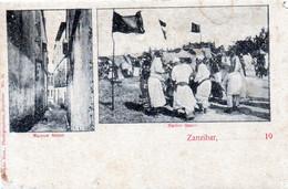 CPA - TANZANIE - ZANZIBAR -  Narrow  Street - Native Dance - Tanzanie