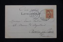HONGRIE - Affranchissement De Podolin Sur Carte Postale En 1904 Pour La France - L 78667 - Briefe U. Dokumente