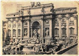 Cartolina Di ROMA Fontana Di Trevi Fine Anni '40 - Fontana Di Trevi