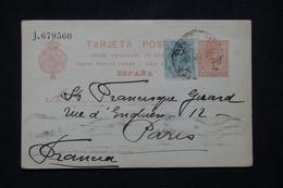 ESPAGNE - Entier Postal + Complément De Barna Pour Paris En 1920 - L 78686 - 1850-1931