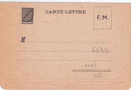 Franchise Militaire Carte Lettre Rhin Et Danube - 2. Weltkrieg 1939-1945