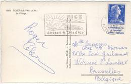 20F MARIANNE MULLER CARNET CATALOGUE TP H. THIAUDE  CARTE POSTALE ETRANGER 8/6/59 - CP TOUET SUR VAR - 1921-1960: Moderne