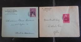 Timbres Belgique 305 & 306 Sur 2 Enveloppes / Marchienne-au-Pont - Ohne Zuordnung