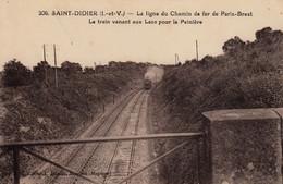 Thematiques 35 Ille Et Vilaine Saint Didier La Ligne Du Chemin De Fer De Paris Brest Train Venant Aux Lacs Pour Peiniere - Other Municipalities