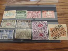 12 Timbres Du Chemin De Fer Oblitérés Par Le NORD BELGE. Gare De STATTE (y Compris Le Cachet POSTHUME En 1941) - Nord Belge