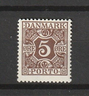 1922 5 ORE BROWN MNH** - Port Dû (Taxe)