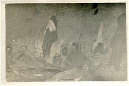 PHOTO FRANCAISE - POILUS AU REPOS A GRANDVILLERS PRES DE FRANCIERES - COMPIEGNE OISE - GUERRE 1914 1918 - 1914-18
