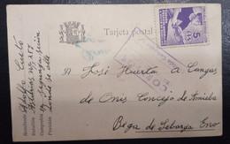 ASTURIAS Y LEON.  1937.- LAS CALDAS A CANGAS DE ONIS. - Asturias & Leon