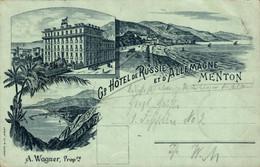 78516- Menton, Hotel De Russie Et D'Allemagne 1897 - Menton