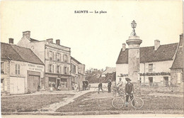 Dépt 77 - SAINTS - La Place - (Édit. Bourgeois, Tabac - Héliotypie E. Le Deley) - Beautheil-Saints - Altri Comuni