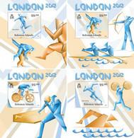 SOLOMON Isl. 2012 - London Olympics, Table Tennis. OFFICIAL Deluxe Sheets [SLM12116dlx] - Tischtennis