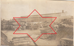 """Photo Janvier 1919 SAINT-NAZAIRE - Camp Américain N°7, Montage De Camions, """"Park Réception Moteur"""" (A225, Ww1, Wk 1) - Saint Nazaire"""