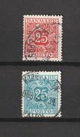 1923/30 25 ORE RED & 25 ORE LIGHT BLUE FINE USED - Segnatasse