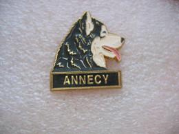 Pin's Chien Husky à ANNECY (Dépt 74) - Animali