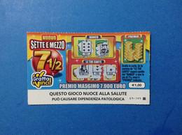 ITALIA BIGLIETTO LOTTERIA GRATTA VINCI USATO € 1,00 NUOVO SETTE E MEZZO LOTTO 3013 SENZA LOGO REPUBBLICA LOTTERY TICKET - Billetes De Lotería