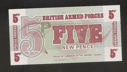Forze Armate Britanniche - Banconota Non Circolata Da 5 New Pence - 6° Serie - Seconda Emissione - P-M47 -1972 - Forze Armate Britanniche & Docuementi Speciali