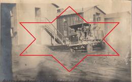 """Photo Janvier 1919 SAINT-NAZAIRE - Un Camion Au Camp Américain N°7, """"Park Réception Moteur"""" (A225, Ww1, Wk 1) - Camion, Tir"""