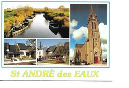 44 SAINT ANDRE DES EAUX Cpm Multivues - Otros Municipios