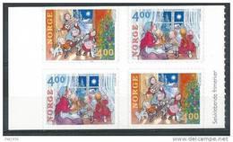 Norvège 1999 N°1284/1285 Bloc De 4 Avec Paires Inversées Neuf** Noel - Neufs