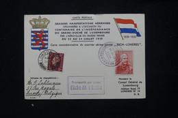 LUXEMBOURG - Carte Postale Commémorative Du Courrier Aérien Spécial Esch / Londres En 1939 - L 78722 - Covers & Documents