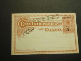 Stempel ( 611 )  Afstempeling  - Entier Postal  Postwaardestuk  Congo  Kongo  - BOMA CARTE INCOMPLETE - Postwaardestukken