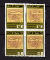 Saint-Marin  (1977)  - Vol Verticale -Enrico Forlanini - En Blocs De Quatre -  Neufs** - Unused Stamps