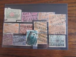 13 Timbres Du Chemin De Fer Oblitérés Par Le NORD BELGE. Gare De SCLESSIN (y Compris Le Cachet POSTHUME GRATTE EN 1947!! - Nord Belge