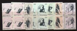 Saint-Marin  (1977)  - Les Vertues Civiles  -  En Blocs De Quatre -  Neufs** - Unused Stamps
