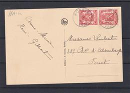 N° 419 Paire / Carte De ROISIN - 1935-1949 Petit Sceau De L'Etat