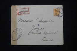 DANEMARK - Enveloppe En Recommandé De Copenhague Pour La France En 1919 Avec Contrôle Postal - L 78726 - Briefe U. Dokumente