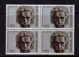 Saint-Marin  (1979)  - Albert Einstein - En Blocs De Quatre  -  Neufs** - Unused Stamps