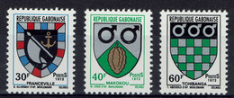 Gabon, Coat Of Arms, Franceville, Makokou And Tchibanga, 1972, MNH VF - Gabon