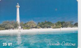 New Caledonia, NC-100, 25 Unit'es, Le Phare Amédée, Lighthouse, 2 Scans. - Neukaledonien