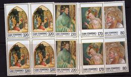 Saint-Marin  (1979)  -  Noel - Fresques  - En Blocs De Quatre  -  Neufs** - Unused Stamps