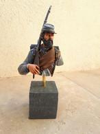 Buste De Soldat Confédéré Guerre De Sécession 200 Mm (1/9) BUSTE PEINT  & - Figurines